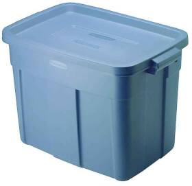 Rubbermaid 2215CPDIM 18 Gal Blue Storage Tote