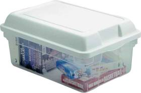 Rubbermaid 3Q2400CLCBL 15 Qt Zirconia Clear Storage Tote With Blue Lid