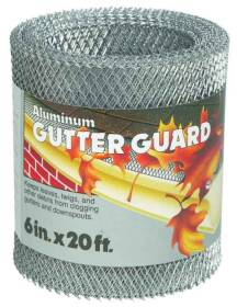 Amerimax 85198 Plastic Gutter Guard 6 in 20 ft