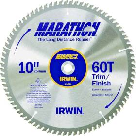 Irwin 14074 10 in 60tht Circular Saw Blade