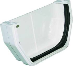 Genova RW102 White Gutter Outside End Cap