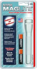 Mag Instrument M2A10H Mini Maglite Flashlight Combo Silver