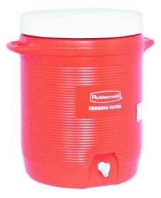 Rubbermaid Home 1610-01-11 10 Gal Orange Commercial Water Cooler