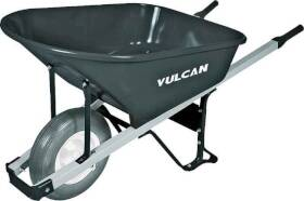 Vulcan 34472 Contractor Steel Wheelbarrow 6 Cu Ft