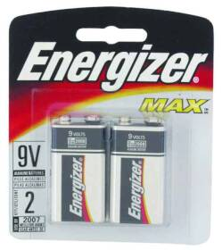 Energizer Battery 522BP-2 Energizer 9v Batteries 2pk