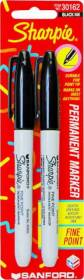 Sanford Corporation 30162 2pk Fine Black Sharpie Marker