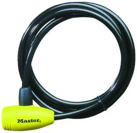 Master Lock 8154DPF 3/8 x 6 ft Keyed Cable Lock