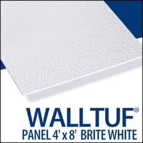 Palram Americas 92585 Walltuf Panel 4x8 White
