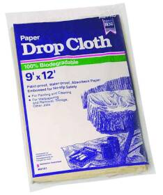 Trimaco 02101 9x12 ft Heavy Duty Paper Dropcloth