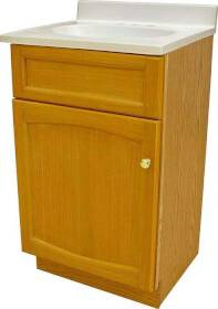 Foremost Groups HEO1816 18x16 Oak Heartland Vanity Combo 1 Door