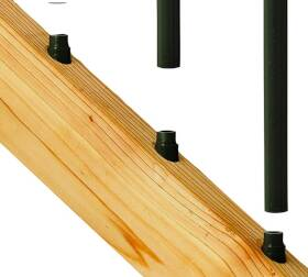 Maine Ornamental 10959 Stair Connector With Screw Black