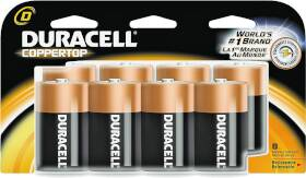 Duracell 0070219 Value Pack D Battery 8 Pack