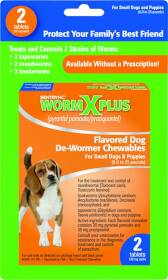 Sergeant's Pet 276808 2ct Wormx Plus Small Dog