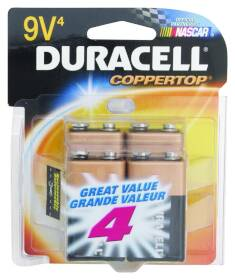 Duracell 0331660 9v Battery 4 Pack