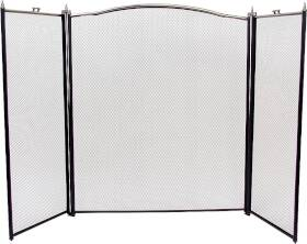 Homebasix 345199 3pnl Ant Slvr/Black Fire Screen