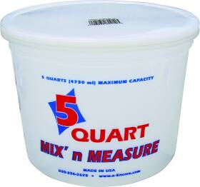Encore Plastics 0430090 Mix-N-Measure Container 5 Qt
