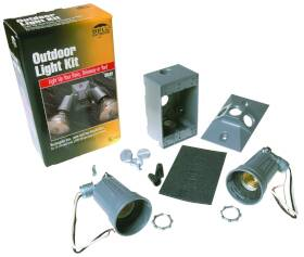 Bell Weatherproof 0896498 Gray 2 Light Weatherproof Floodlight Kit