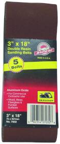 Ali Industries 7034 3x18 in 50grit Aluminum Ox Belt 5pk