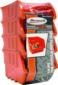 Homak HA01040954 Plastic Bin Set Large