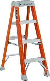 Louisville Ladder FS1504 4 ft Fiberglass Stepladder Type Ia