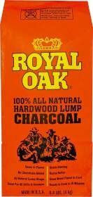 Royal Oak Enterprises, 195-228-123/191 100 Percent Natural Hardwood Lump Charcoal 8-Lb