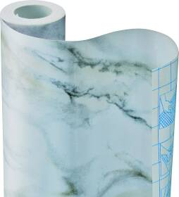 Kittrich 09F-C9533-12 Con-Tact Brand Creative Covering 18 in X 9 ft White Marble Self-Adhesive Covering