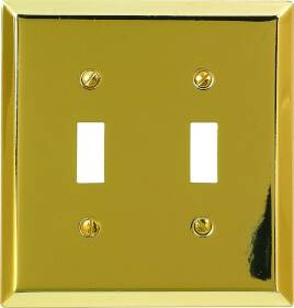 American Tack & Hardware 163TTBR 2-Toggle Plate Br.brass