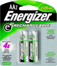 Energizer Battery NH15BP-2 Recharge Nimh Aa Battery 2pk