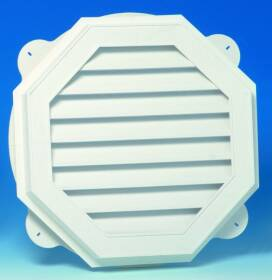 Canplas Inc 626060-00 22 in White Vinyl Oct Gable Vent