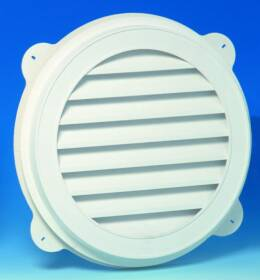 Canplas Inc 626055-00 22 in White Vinyl Round Gable Vent