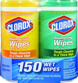 Clorox Co. 01599 Disenfecting Wipes Twin Pack