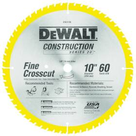 DeWalt DW3106 10 in Circular Saw Blade 60t