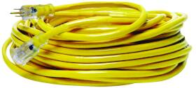 Coleman Cable 2885 12/3x100 ft Yel Jkt Extension Cord