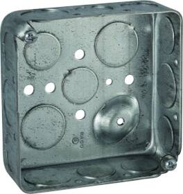 Raco 8192 4 In Square Steel Outlet Box4x1-1/2