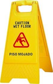 Chickasaw & Little Rock Broom Works 628 Wet Floor Sign 2 Sided