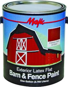 Yenkin Majestic Paint C 8-0047-1 Latex Barn & Fence Clear Red Gal