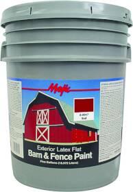 Yenkin Majestic Paint C 8-0047-5 Latex Barn & Fence Cl Red 5 Gal
