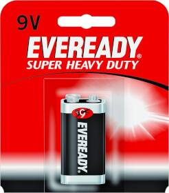 Energizer Battery 1222SW Super Heavy Duty 9v Battery