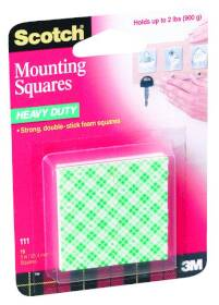 3M 111 1 in Heavy Duty Mounting Squares