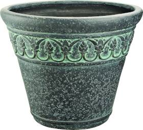 MintCraft PT-008 16 in Round Planter Verdigris