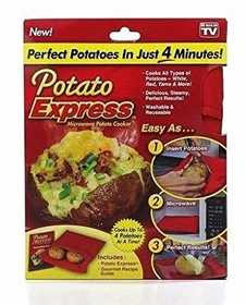 Ontel Products 1000159 Potato Express Microwave Potato Cooker
