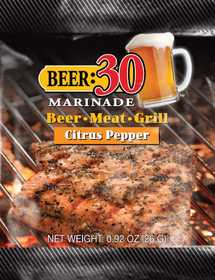 Old World Spices OW88005 Beer:30 Citrus Pepper BBQ Marinade