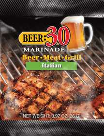 Old World Spices OW88015 Beer:30 Italian BBQ Marinade