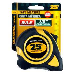 Olympia Tools 43-234 Tape Measure Sae 1 in X25 ft