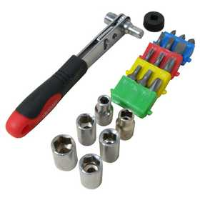 Olympia Tools 76-508-N12 2-In-1 Ratchet Driver - 22 Piece Set