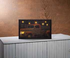 OHIO WHOLESALE 12465 Lighted Canvas Old Truck
