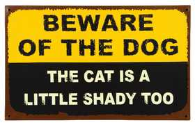 OHIO WHOLESALE 13084 Pet Warning Sign