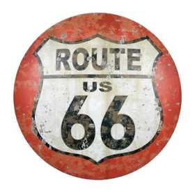 OHIO WHOLESALE 34370 Domed Route 66 Sign 12.5 in x 12.5 in
