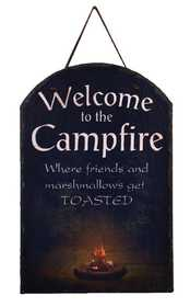 OHIO WHOLESALE 38470 Welcome to the Campfire Slate 15 in x 10 in