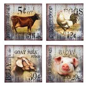 OHIO WHOLESALE 39477 Down on the Farm Plaque Assorted